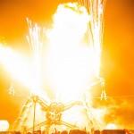 Arcadia on fire