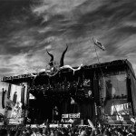 Courteeners on the other stage under amazing skies