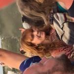 Florence enjoying The Maccabees