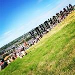 Glastonbury basking in sunshine!