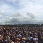 Panoramic view pyramid stage