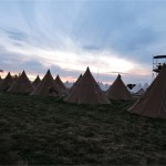 'Sunset over the Tipis in Worthyview'