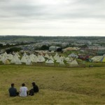 Taking in THAT view of Worthy Farm, now the best Festival, waiting to go off...