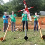 Wind Power Alphorns plus Trombone in the Green Fields early morning