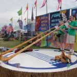 Windpower Alphorns on the Banjo stage
