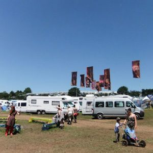 Campervan / caravan field to open at 6pm on Tue