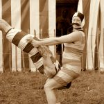 Circus performers in sepoa