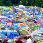 Tents at Glastonbury (John Peel stage)