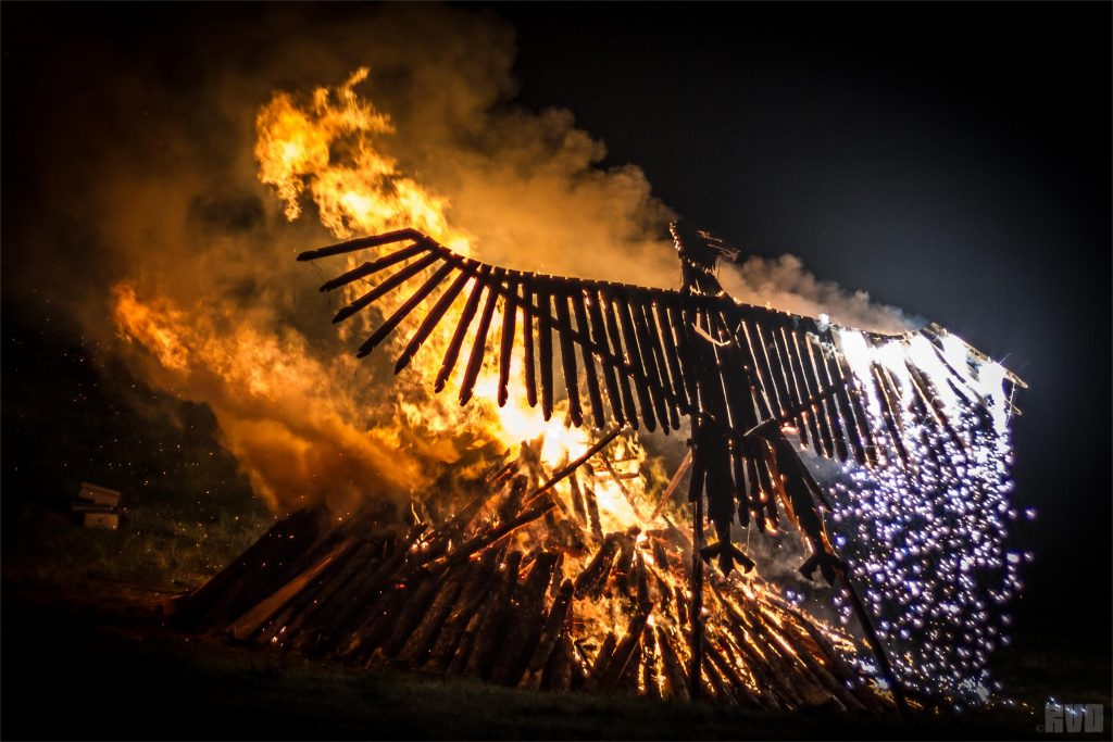 Image result for burning of the phoenix glastonbury