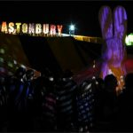 Rabbit Hole massibe bunny and Glastonbury sign