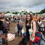 The 'oh my god, we're ACTUALLY INSIDE Glastonbury Festival' feeling...