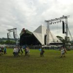 When the grass was still green at The Pyramid Stage