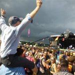 Grandad on younger shoulders!
