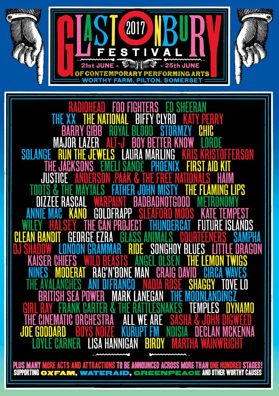 Resultado de imagen de GLASTONBURY FESTIVAL 2017