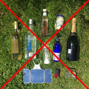 Please do not bring any glass to Glastonbury!