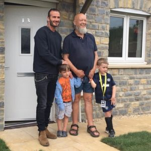 David Beckham opens social housing in Pilton