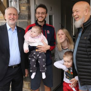 Eavis and Corbyn celebrate Pilton social housing project