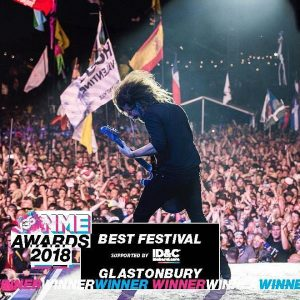Glastonbury wins Best Festival NME Award for fifth year running