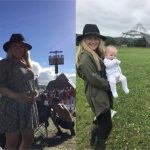 My lovely daughter Alex Wesson 2017 with bump and 2018 With Ronnie Elvis