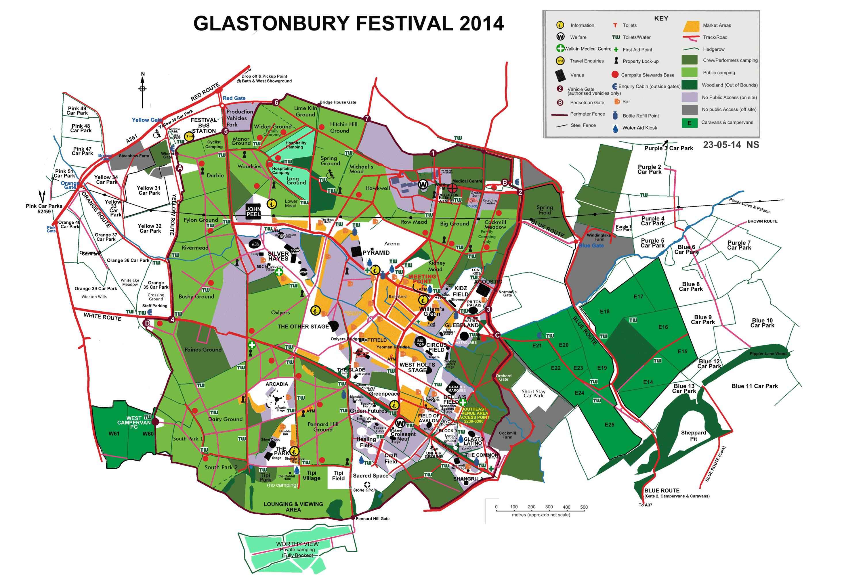 Glastonbury Festival Map FG map 11c   Glastonbury Festival Glastonbury Festival Map