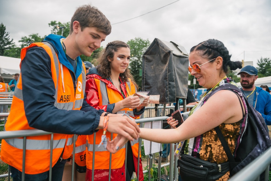 Stewards working at Glastonbury 2017.
