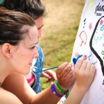 Paint your own t-shirts at our Music4Children yurt in the Green Futures field