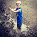 Happy as a kid in mud