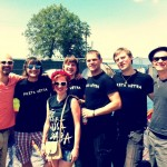Latvian band PRATA VETRA (played the festival on 29th of June, John Peel stage) with the  management&crew who did camping.