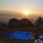 The best place to nap at Glasto, but don't miss sunrises like these...!