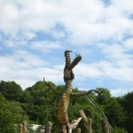 One of many amazing sculptures at Glastonbury Festival