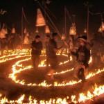 Fire labyrinth, Wednesday evening.