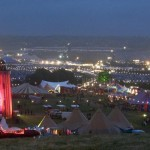 Festival site from the Park at night