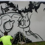 Graffiti outside spunky soundsystem