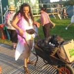 A girls gotta look her best when arriving at Glastonbury!!!