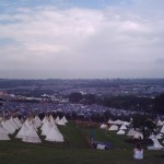 Thursdays view over the site just before the rain