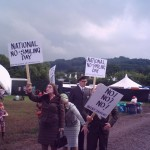 We found some unhappy people at Glasto (a 1st)