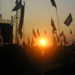 Sunset during Kasabian on Saturday night