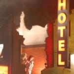 The hotel at trash city.