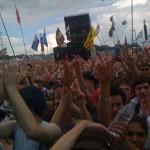 Pyramid crowd during dizzee rascals' set