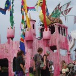 I wish I lived in the pretty pink castle...