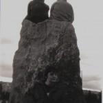 Caroline at the stone circle 1999.