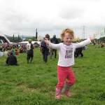 Anastasia's first Glastonbury - one happy girl!