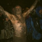 After a mud fight. Some random barmpot during The Who 2007