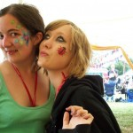 Me and my sister. We waited patiently over an hour for these facepaints, worth it though :-)