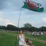 Me & my infamous Cerys Matthews flag :P