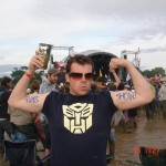 2-tickets to the gun show at the very sloppy mud fest of The Other stage watching Maximo Park.
