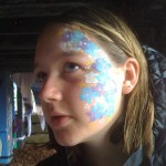 Megan gets her face painted