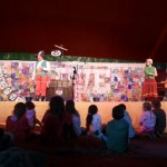 It's great for kids at Glasto,'my shy son on stage',fab!!!