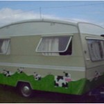 Glastonbury caravan custom paint jobs are the way forward in life! We were parked next to an artery road so am sure lots will remember us!