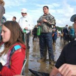 Mollie and Ric sitting in the mudbath watching the Coral on the other stage xx